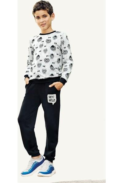 Pikidor Cool Bear Pamuklu Erkek Çocuk Pijama Takımı - Siyah