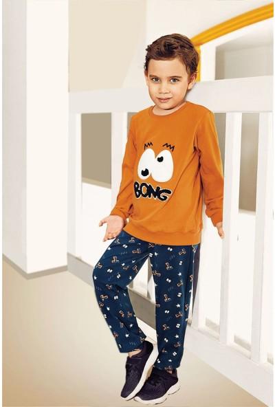 Pikidor Eyes Pamuklu Erkek Çocuk Pijama Takımı - Oranj