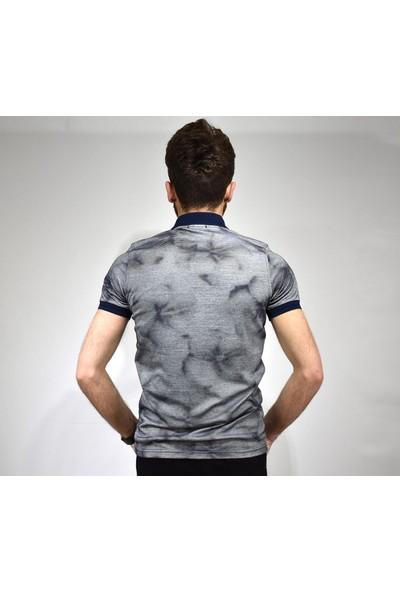 Çizgi Kısa Kol Erkek T-Shirt
