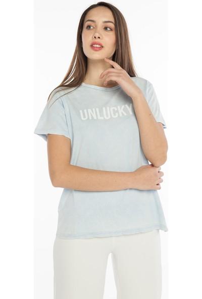 Yellowish Önü Baskılı Oversize T-Shirt S