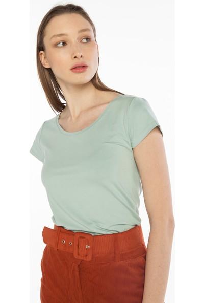 Yellowish Kısa Kollu Crop T-Shirt L