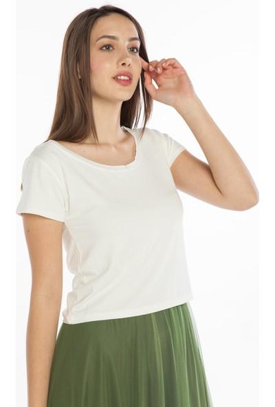 Yellowish Kısa Kollu Crop T-Shirt M