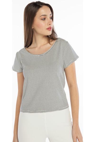 Yellowish Kısa Kollu Crop T-Shirt S