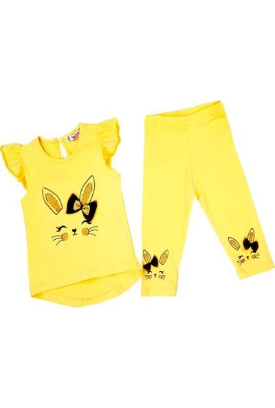 Isobel Tavşanlı Taytlı Sarı Kız Bebek Takım