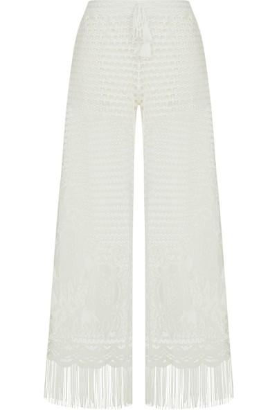 Penti Beyaz Lace Pantolon