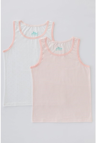 Penti Çok Renkli Kız Çocuk Flat Stripe 2'li Atlet