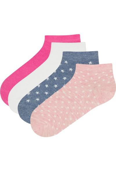 Penti Çok Renkli Kız Çocuk Main 4lü Patik Çorap