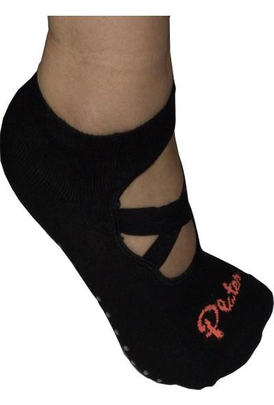 NAZAR 3'lü Kaydırmaz Tabanlı Plates Yoga Bale Çorabı