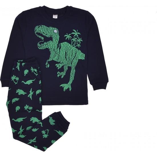 Mehdi̇x Mehdix Dinazor Desenli Erkek Çocuk Pijama Takımı