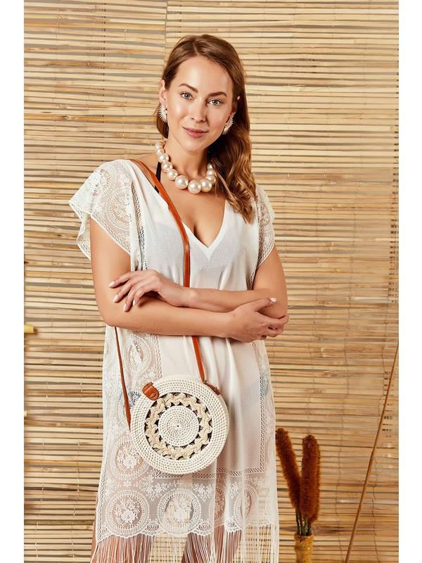İngodi Diana Plaj Elbisesi (Ekru) Deniz Plaj Giyim