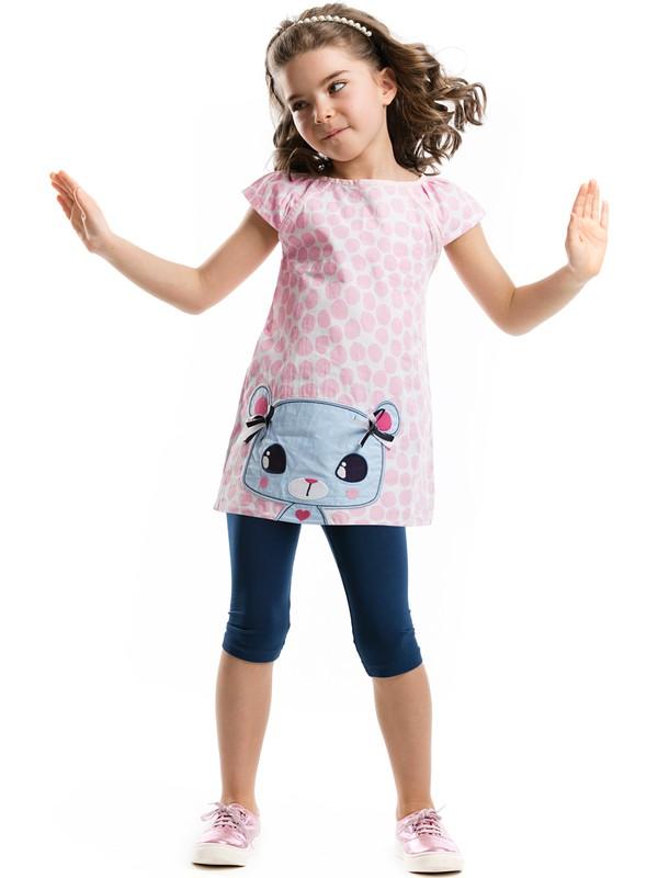 Mushi Bayan Maviş Kız Çocuk Tunik Takım