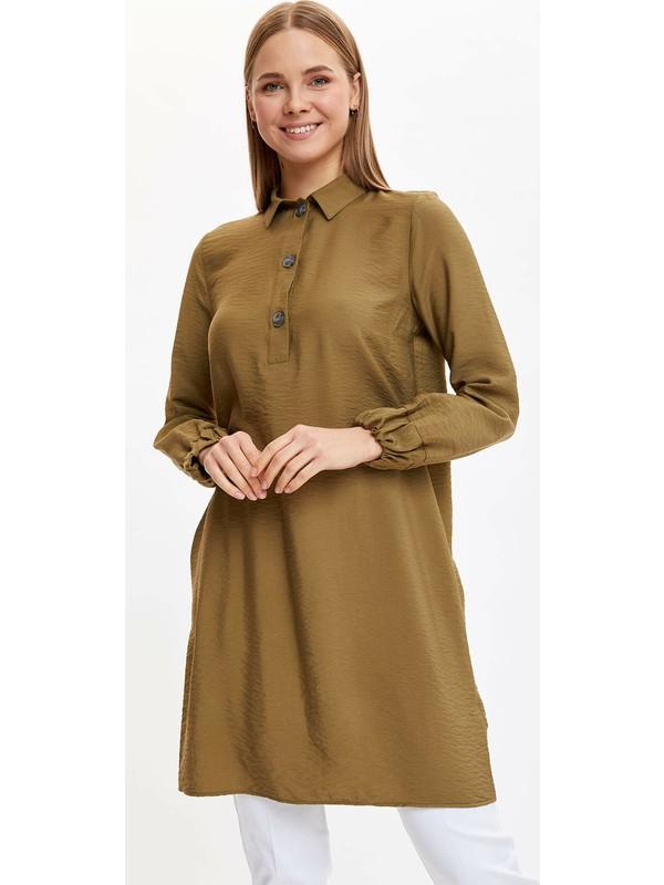 DeFacto Gömlek Yakalı Relax Fit Tunik L1355AZ20SP