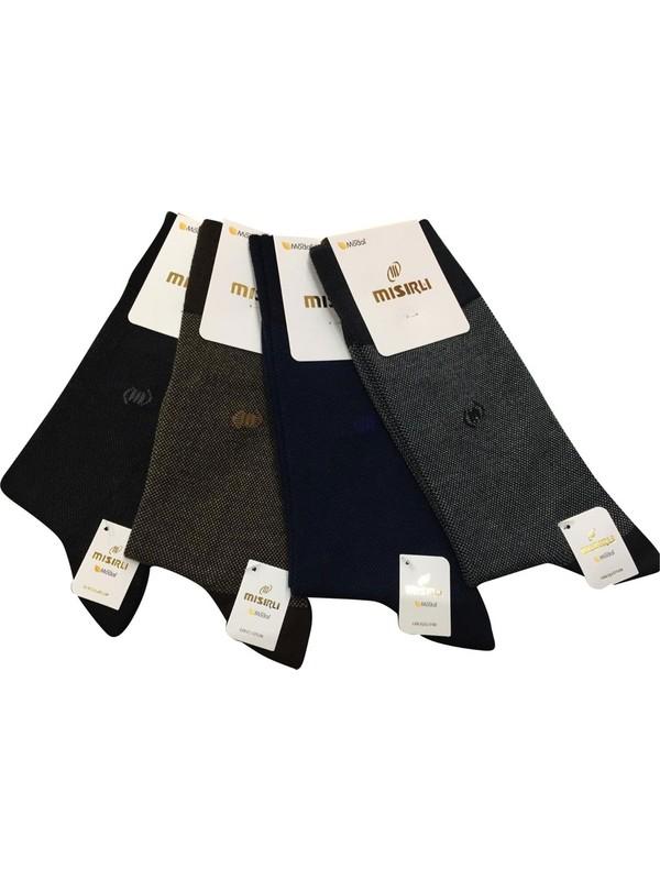 Mısırlı Bambu Desenli Karışık Renkli Erkek Çorap 12 Adet
