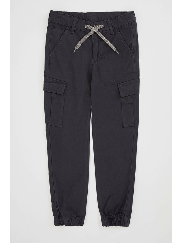 DeFacto Erkek Çocuk Beli Bağlamalı Kargo Fit Dokuma Pantolon M4704A620SP
