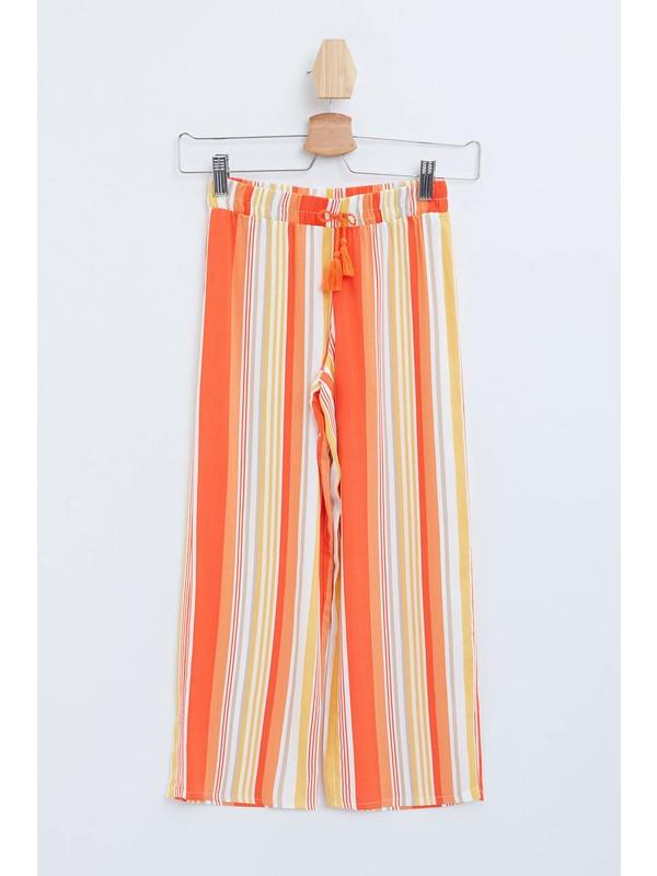 DeFacto Kız Çocuk Relax Fit Renk Bloklu Pantolon M8554A620SP