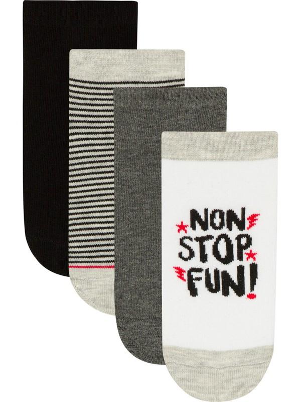 Penti Çok Renkli Erkek Çocuk Stop 4lü Patik Çorap