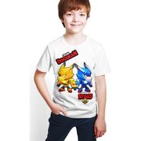 Brawl Stars - Crow - Dijital Baskılı Beyaz Kişiye Özel T-Shirt E-06