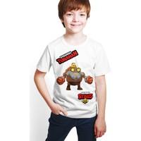 Brawl Stars - Dynamike - Dijital Baskılı Beyaz Kişiye Özel T-Shirt E-02
