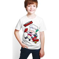 Brawl Stars - Dynamike - Dijital Baskılı Beyaz Kişiye Özel T-Shirt E-05