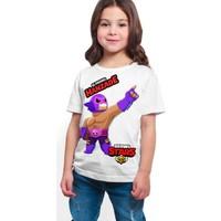 Brawl Stars - El Primo - Dijital Baskılı Beyaz Kişiye Özel T-Shirt K-01