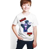 Brawl Stars - Frank - Dijital Baskılı Beyaz Kişiye Özel T-Shirt E-02