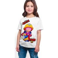 Brawl Stars - Jacky - Dijital Baskılı Beyaz Kişiye Özel T-Shirt K-02