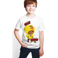 Brawl Stars - Leon - Dijital Baskılı Beyaz Kişiye Özel T-Shirt E-03