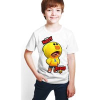 Brawl Stars - Leon - Dijital Baskılı Beyaz Kişiye Özel T-Shirt E-07