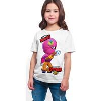 Brawl Stars - Tara - Dijital Baskılı Beyaz Kişiye Özel T-Shirt K-04