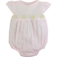 White Baby Papatyalı Kız Bebek Şort Tulum 1343 Pembe