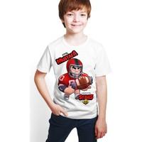 Brawl Stars - Bull - Dijital Baskılı Beyaz Kişiye Özel T-Shirt E-04