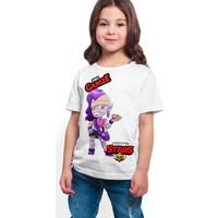 Brawl Stars - Emz - Dijital Baskılı Beyaz Kişiye Özel T-Shirt K-01