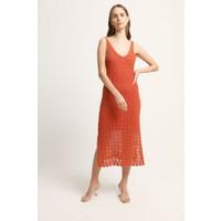 Join Us Yanları Yırtmaç Detaylı Uzun Triko Elbise