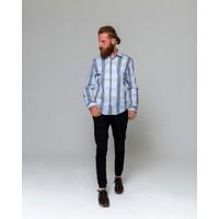 Eyes Men's Fashion Erkek Klasik Yaka Uzun Kol Ekose Slim Fit Gömlek