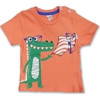Mutti Gözlüklü Dino Baskılı Erkek Bebek T-Shirt