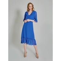 People By Fabrika Kadın Volan Detaylı Şifon Elbise