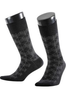 Aytuğ Erkek Bambu Çorap Desenli - 14047