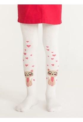 Penti Kız Çocuk Cat In Love Külotlu Çorap