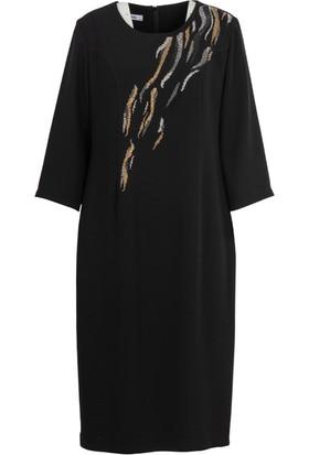 Gılda 8006 Büyük Beden Elbise Siyah