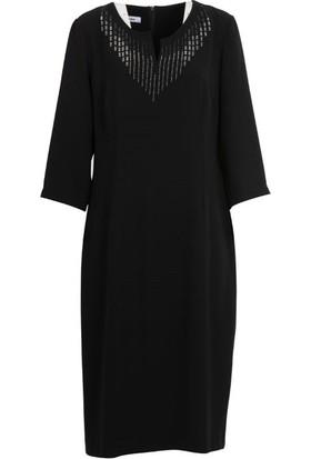 Gılda 8009 Büyük Beden Elbise Siyah