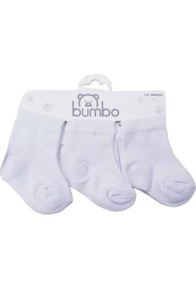 Baby By Bumbo Düz Beyaz 3'lü Bebek Çorap