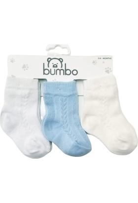Baby By Bumbo Erkek Jakarlı 3'lü Bebek Çorap