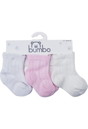 Baby By Bumbo Kız Jakarlı 3'lü Bebek Çorap