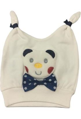 Akyüz Bebe Ayıcıklı Erkek Bebek Şapka