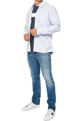 Tommy Hilfiger Erkek Gömlek DM0DM06290414 U001927 - Acik Mavi