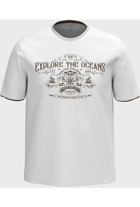 LC Waikiki Erkek Baskılı Bisiklet Yaka T-Shirt