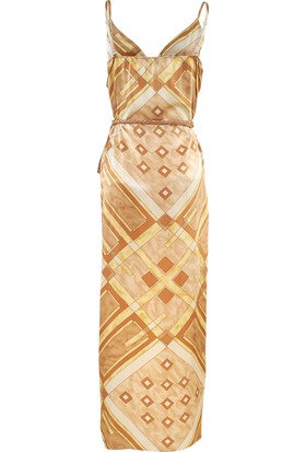 Misey Anvelop Elbise Gold Sarı S - M