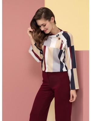 Tchibo Geometrik Gömlek Bluz