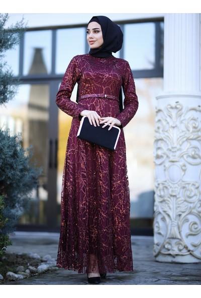 Amine Hüma Kadın İclal Abiye Elbise