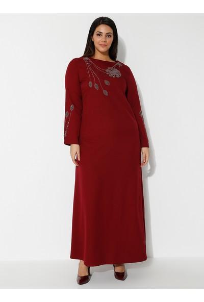 Amine Hüma Kadın Yaprak Abiye Elbise